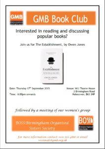 Book Club Sept 2015