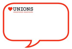 Union speech bubble
