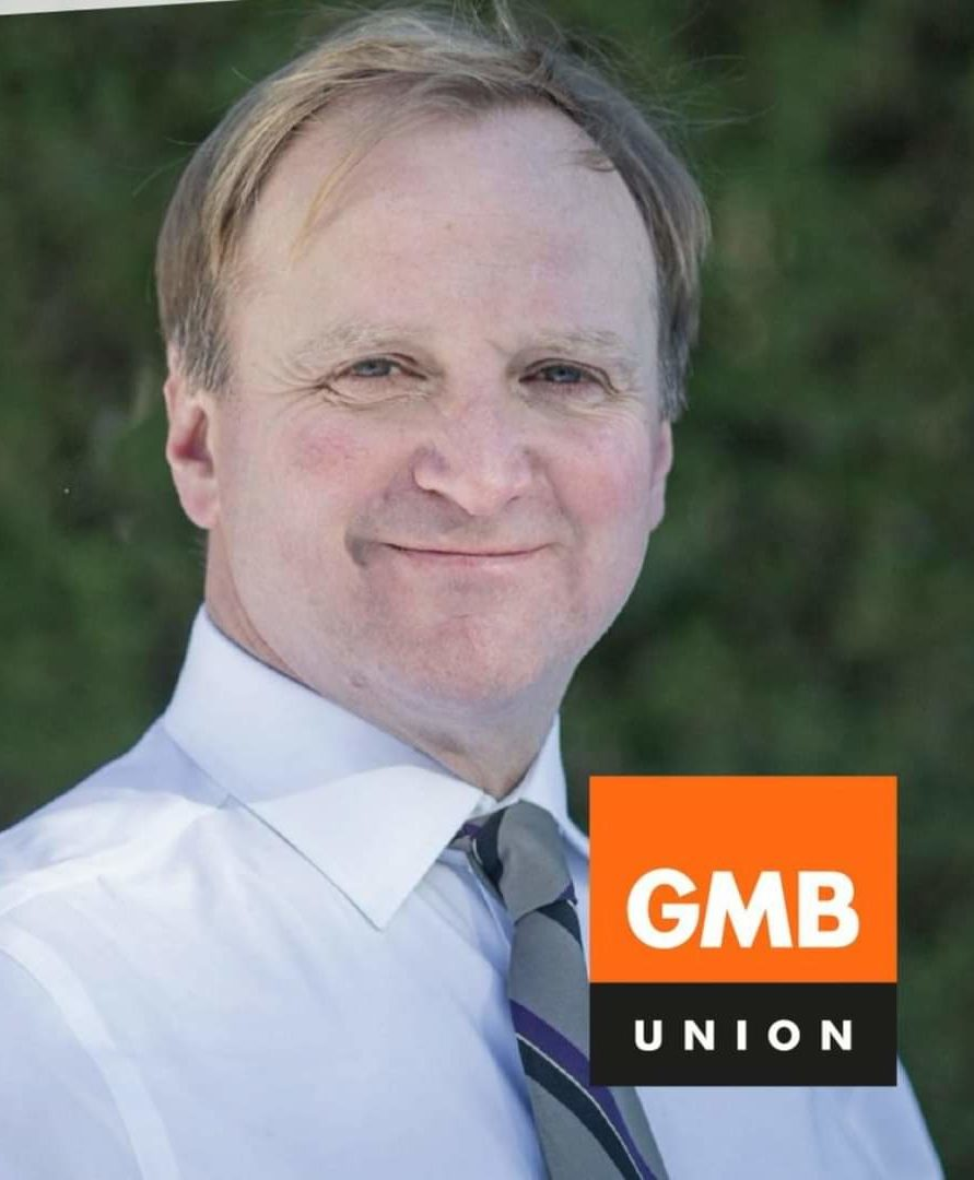 a picture of GMB General Secretary Gary Smith