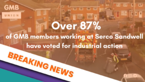 Serco workers in Sandwell vote to take industrial action