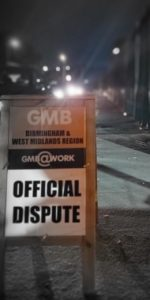 GMB Official Dispute sign